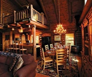 cabin, cosy, and dinner image