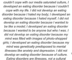 ana, eating disorders, and ed image