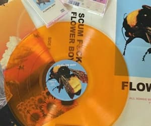 aesthetic, orange, and record image