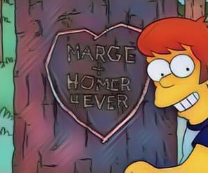 cartoon, homer, and love image
