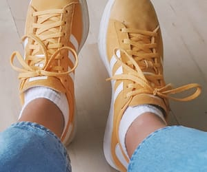 adidas, sneakers, and yellow image