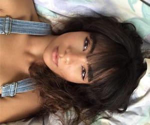 bangs, brown eyes, and brunette image
