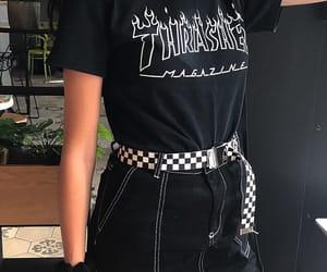 black, closet, and girl image