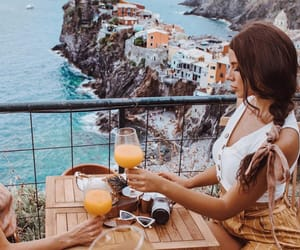 cinque terre, drinks, and food image