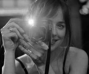 dakota johnson, actress, and black and white image