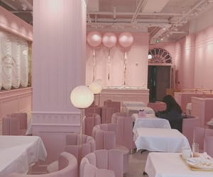 aesthetic, pink, and cafe image