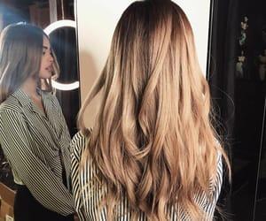 beautiful woman, brown, and long hair image