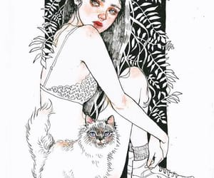 background, cat, and make up image