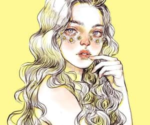 illustration, yellow, and art image