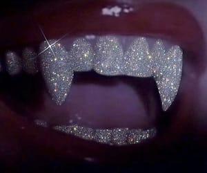 glitter, vampire, and lips image