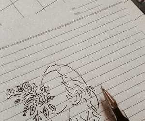 aesthetic, roses, and sketch image