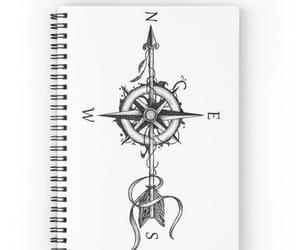dibujo, rosa de los vientos, and tatto image