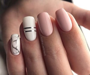 lines, nail design, and pink image