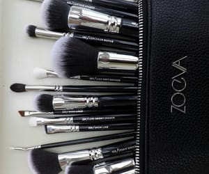 Brushes, eyeshadow, and high end image