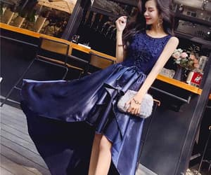 dress, formal, and lace image