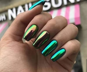 colors, holographic, and nails image