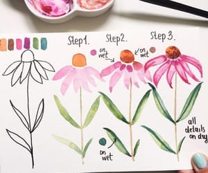 drawing, flower, and tutorial image