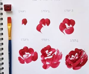rose and how to draw image