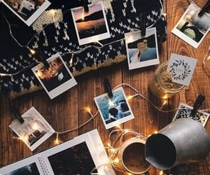 photo, lights, and coffee image