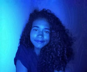 blue, curlyhair, and girl image