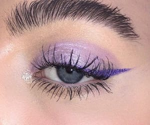eyebrows, eyes, and violet image