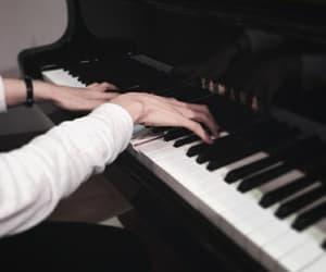 black, boy, and piano image