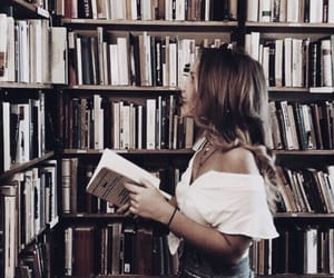 girl, fashion, and books image