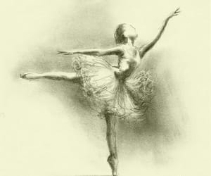 ballerina, ballet, and drawing image