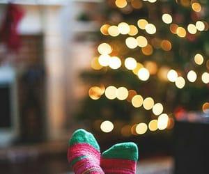 christmas, lights, and socks image
