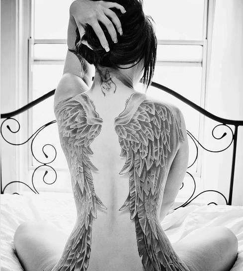 Angel Wings Back Tattoo Uploaded By Henna On We Heart It