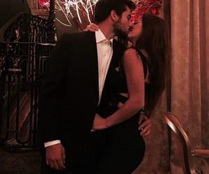 couple, kiss, and love image