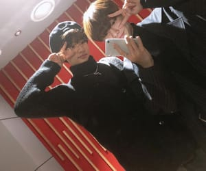 in, selca, and stray kids image
