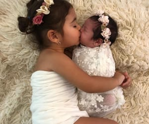 baby, sisters, and love image