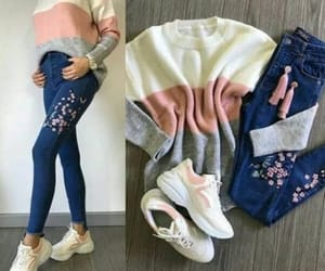 chunky, neutrals, and sweatshirt image