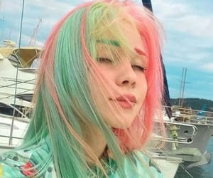colorful and hair image