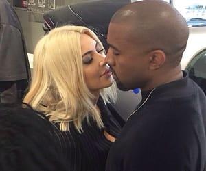 kim kardashian, couple, and kanye west image