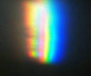 glitch, holographic, and rainbow image