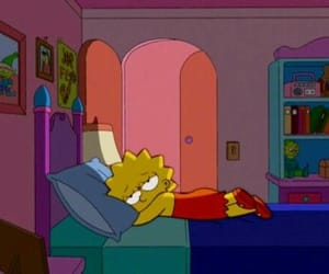 bed, life, and lisa simpson image