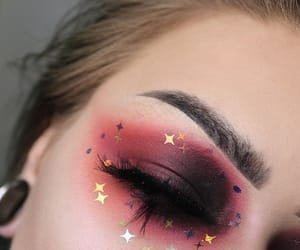 girl, makeup, and stars image