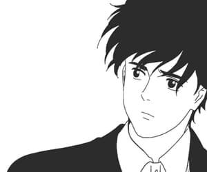 anime, black white, and banana fish image