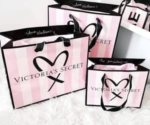 girly, pink, and shopping image