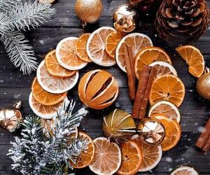 christmas, orange, and vintage image