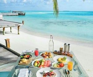 food, beach, and breakfast image