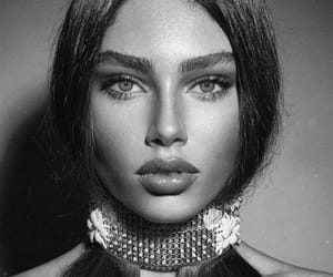 black and white, beauty, and girl image