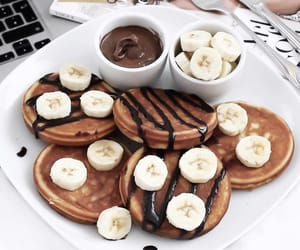 bananas, coffee, and pancake image