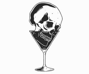 alternative, drink, and skull image