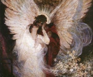 art, angel, and painting image