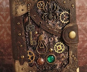book, gears, and jewels image