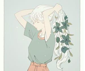 art, fashion, and white hair image