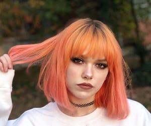 orange, girl, and grunge image